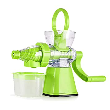 Exprimidor manual multifunción, excelente jugo de extracción de frutas helado DIY herramienta de cocina para frutas suaves vegetales frondosos verde: ...