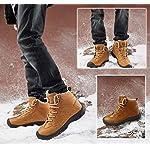Axcone Homme Femme Chaussures Trekking Randonnée Bottes de Neige Hiver Imperméable Outdoor Boots Fourrure Cuir… 14