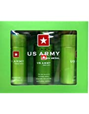 Ron Marone's US Army Green 3 Piece Fragrance Gift Set for Men, 3 count
