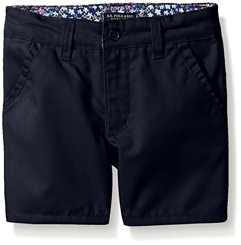 - U.S. Polo Assn. Big Girls' Twill Short (More Styles Available), Navy-AHEJ, 14