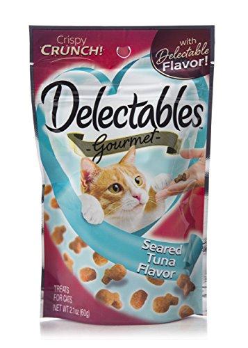 Delectables Gourmet Crunchy Cat Treats 2.1Oz - Seared Tuna