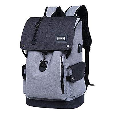 1be1b9a187f2 Amazon | Jiacilra USBポートバックパック グレー | Jiacilra | メンズ