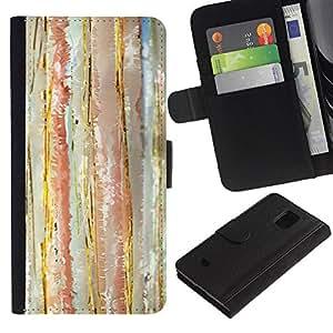 iBinBang / Flip Funda de Cuero Case Cover - El pastel de la acuarela abstracta Calm Colores - Samsung Galaxy S5 Mini, SM-G800, NOT S5 REGULAR!