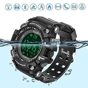 Reloj Deportivo Fitness Tracker SmartWatch con Podómetro Resistente al agua (IP67) Control Remoto de Cámara Reloj para Correr Para Smartphones Android ...
