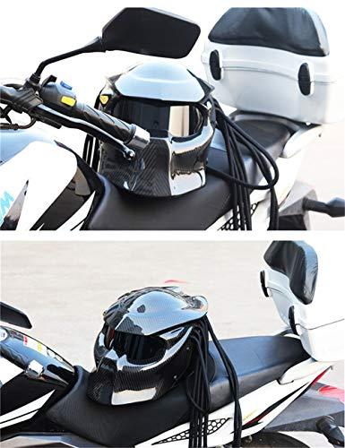 SanQing Casco de Motocicleta Personalidad Integral Personalidad ...