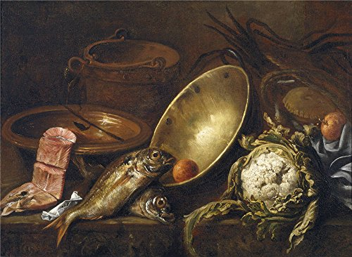 Oil Painting 'Pereda Y Salgado Antonio De Bodegon De Cocina 1651', 12 x 16 inch / 30 x 42 cm , on High Definition HD canvas prints, gifts for Living Room, Powder Room And Study Room Decoration, diy