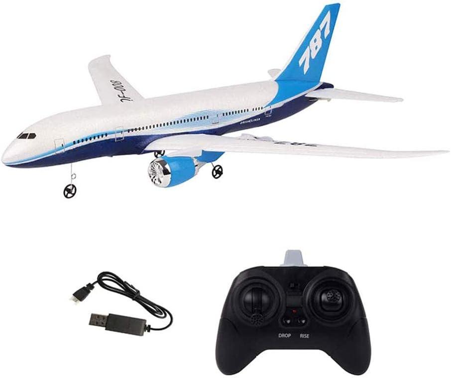 LOISK 3 Canales 2.4 GHz Rtf RC Aviones 550 Mm Wingspan Glider DIY Control Remoto Avión Juguete Epp Integrado Gyro Grande Planeador Doble Motor Juguetes Voladores Adultos para Niños