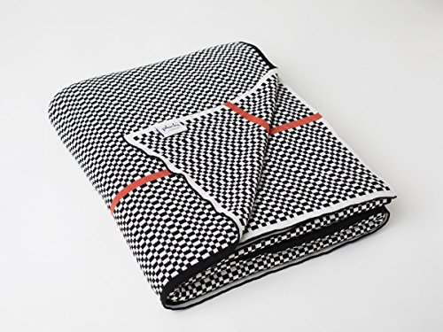 Black Tiny Check - Pluchi Knitted Queen Bed Throw/Home & Garden/Bed & Bath/Throw Blankets (Black, Tiny Checks)