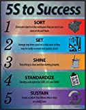 5S to Success Lean Poster 22X28 Framed