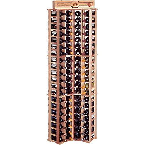 KegWorks Traditional Redwood Curved Corner Wine Rack - Holds 84 Bottles -