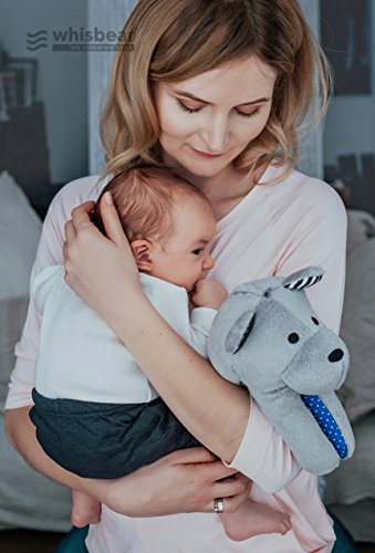 Whisbear Baby Sound Machine - The Best Sleep Soother on the Market - No More Sleepless Nights and Sleep Deprivation with this Award Winning White Noise Teddybear (Citron) by Whisbear (Image #4)