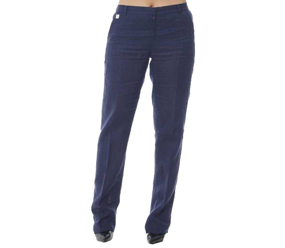 Marina Rinaldi Women's Raul Original Straight Flax Pants 14W/23 Navy
