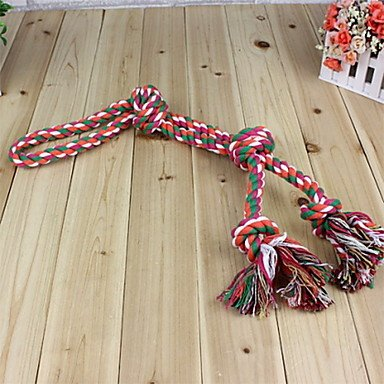 Quick shopping Durable Rough Rope with Four Knots Chewing Toy for Dogs (Random color)