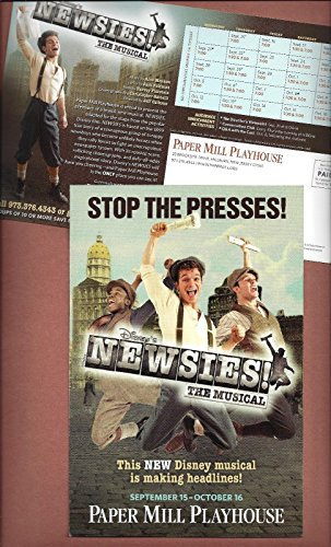 "Jeremy Jordan ""NEWSIES"" Alan Menken / Harvey Fierstein 2011 Tryout Postcard"