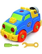 Akokie Take-apart Removable Jeep Assembly Puzzle Toy 27 Pieces Great Gift for Children Aged 3 to 8 Years Old (Jeep)