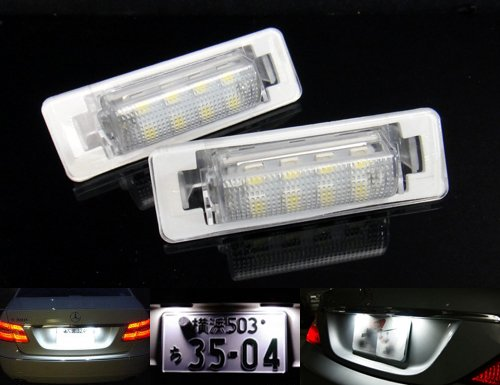2x LED Licence Number Plate Light White Canbus For MB W210 E-Class 1995-02 W202 C-Class 1997-00 RZG