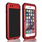 CarterLily Shockproof Dustproof Water Resistant Aluminum Armor Full-Body Protection Case iPhone 6 / iPhone 6S (Red)