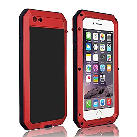 CarterLily® Shockproof Dustproof Water Resistant Aluminum Armor Full-body Protection Case for iPhone 6 Plus / iPhone 6S Plus (Iphone 6 Plus Military Metal Case)