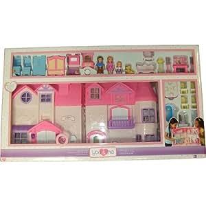 Amazon Com You Amp Me Happy Family Dollhouse Furnished