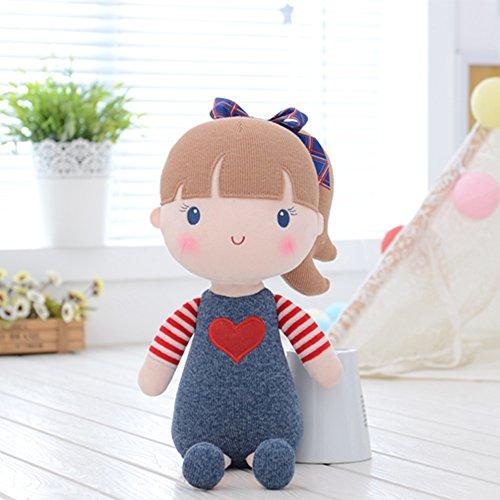Blue Plush Baby (Gloveleya - Baby Doll - Girl Gifts - Plush Cloth Fairy Babydoll Kids Toys Blue 15'')