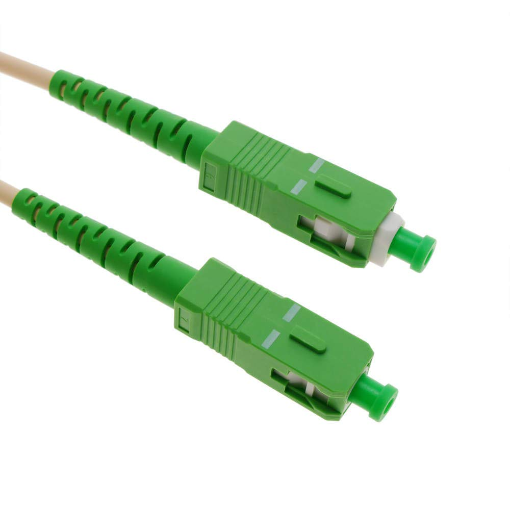 BeMatik - Câble á Fibre Optique SC/APC á SC/APC simplex monomodes G657A2 9/125 de 50 cm OS2 BeMatik.com
