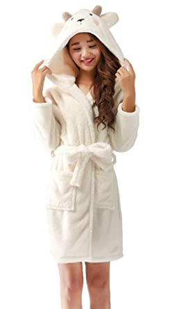 874dd828d2 Nicetage Ladies Chrismas Hooded Dressing Gown Robe Warm Cute Cosplay  Costume Animal Housecoat With Belt(
