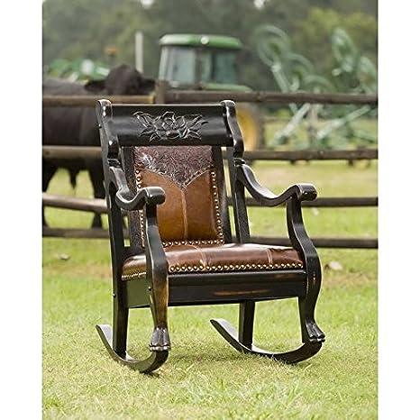 Magnificent Amazon Com Country Roads Texas Rose Rocking Chair Kitchen Unemploymentrelief Wooden Chair Designs For Living Room Unemploymentrelieforg