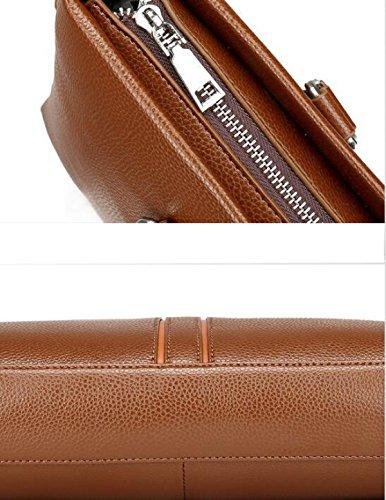 Darkbrown Regalo Moda Stile Cuoio Di Borsa Britannico Molle Pu Colore D'affari Wallet Solido Uomini H7Pq6wP
