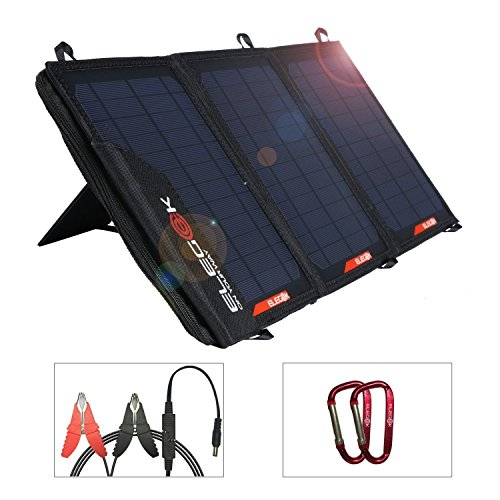 Foldable Solar Panel Charger ELEGEEK Folding Solar Panel for Camping Hiking Fishing for Phone Power Bank (21W 5V/18V) by EleGeek