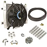 BD Diesel 1030606-1/2 Xtruded Auxiliary Transmission Oil Cooler Kit 1/2in. Tubing Incl. Cooler/Brackets/Wiring Harness/Fittings/Temp Sensor/Sensor Adapter/Hoses/Bypass Frt/Rear Tube Eliminator/Hdw Xtruded Auxiliary Transmission Oil Cooler Kit