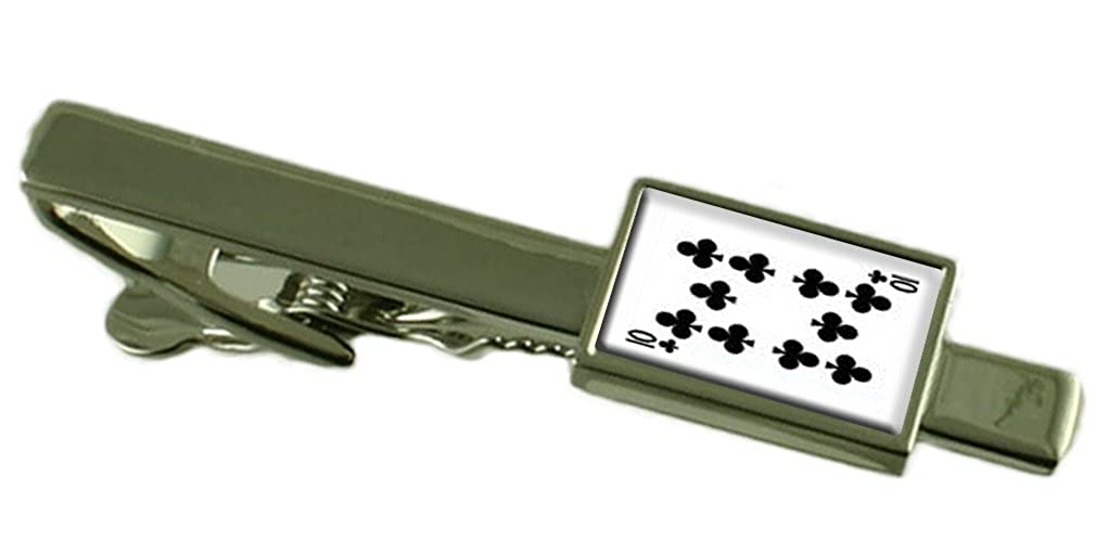 Select Gifts Club Playing Card Number 10 Tie Clip Engraved Personalised Box