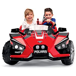 Peg-Perego-Polaris-Slingshot-Ride-On-with-Spare-12-Volt-Battery-and-Charger