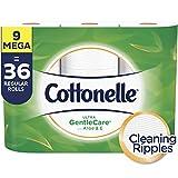Cottonelle Ultra GentleCare Toilet Paper, Aloe & Vitamin E, 9 Mega Rolls