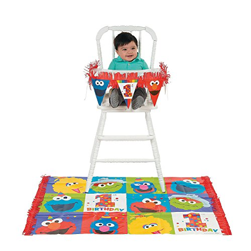 - CusCus Sesame Street Elmo Turns One High Chair Kit