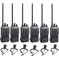 6 Pack of Icom F4001 UHF Analog Two Way Radios PREPROGRAMMED with HM159 Speaker Mic