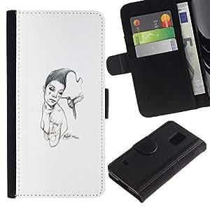 All Phone Most Case / Oferta Especial Cáscara Funda de cuero Monedero Cubierta de proteccion Caso / Wallet Case for Samsung Galaxy S5 V SM-G900 // Pink & Bird
