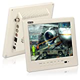 CCTV Monitor, BNC, Speaker, ZOTER 8'' inch Portable Audio LCD Mini Screen White for Security Camera DVR