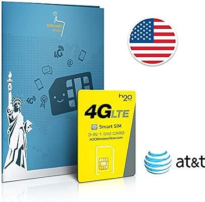 SIM prepago EEUU - 4GB 4G LTE - lllamadas y mensajes de texto Internacionales - 30 días