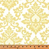 Fabric Shower Curtain - CECILIA SAFFRON YELLOW - 72'' Width x (72'', 74'', 78'', 84'', 90'', 96'') Length