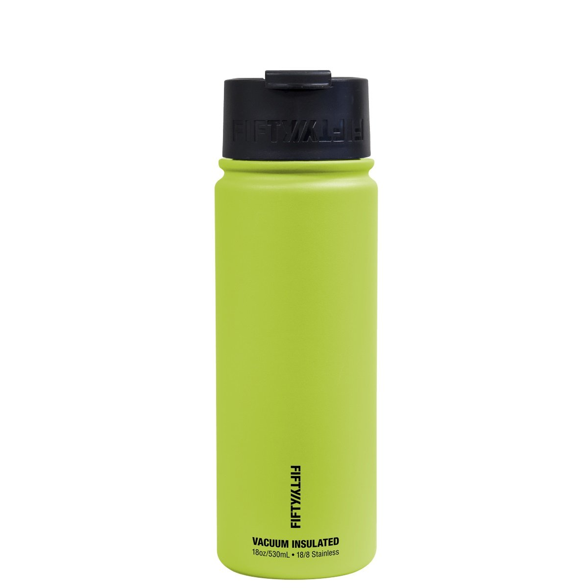 Wide Mouth/Flip Cap 1 Pack FIFTY//FIFTY V18004LM0 18oz Lime Double Wall Vacuum Insulated Stainless Steel Water Bottle//Travel Coffee Mug,