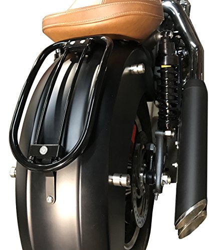 Tubular Solo Rack - Gloss Black Solo Luggage Rack Tubular for Indian Scout (2015 models and up)