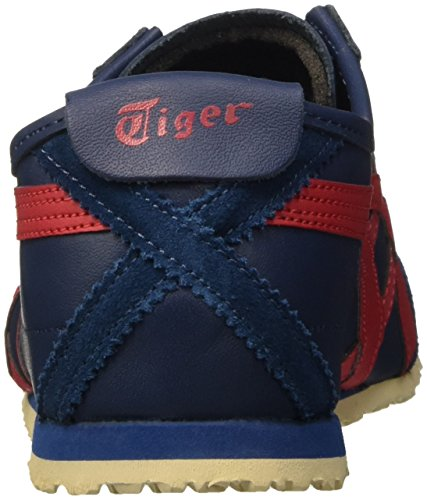 Asics Ginnastica Mexico Unisex poseidon Basse Sneakers 66 Red Scarpe Da adulto Blu classic rwrnAXTqd0