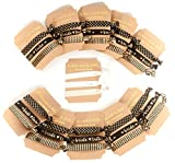party ties - Bride and Bride Tribe Bachelorette Party Hair Ties in Black and Gold (11 Piece Set)