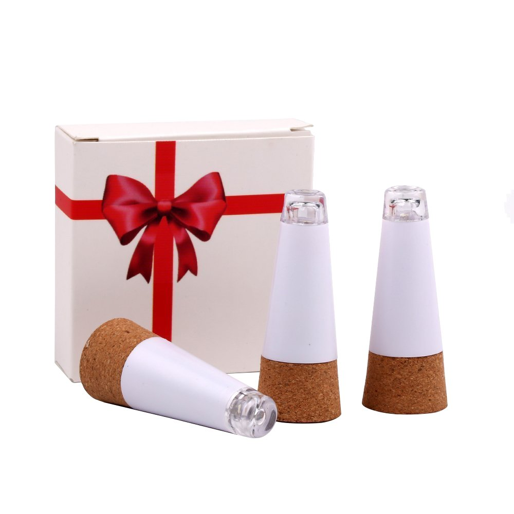 3 Packs Cork Shaped Rechargeable LED Bottle