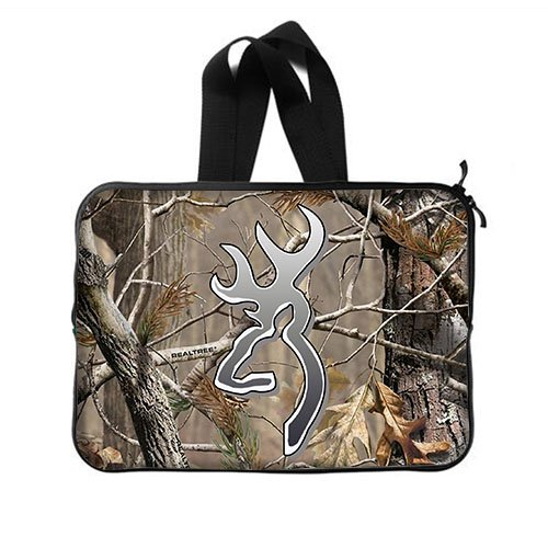 Custom Camouflage Realtree Pattern Laptop Notebook Computer Netbook Soft Neoprene Sleeve Bag Case Cover for Apple Macbook Pro 15 inch(Two Sides) - Camo Computer Case