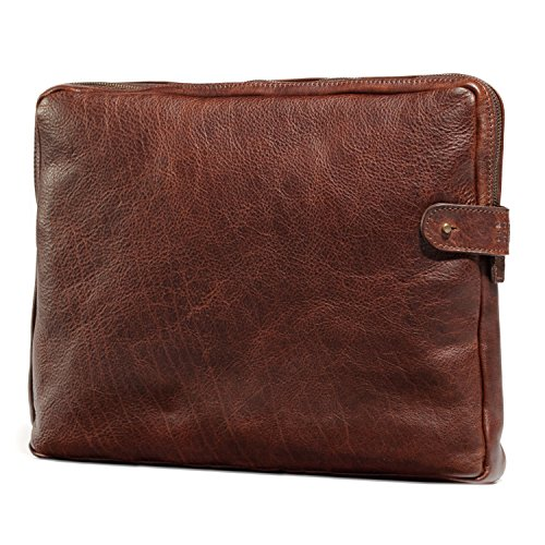 Moore and Giles Laptop Sleeve with Rechargable Battery, Titan Milled Brown ()