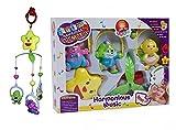 MousePotato Sweet Cuddles Cot Hanging Music Box with Rotating Cartoon Rattles