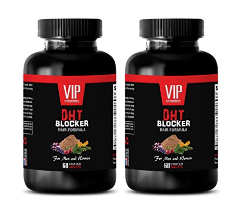 hair loss supplements zinc - DHT BLOCKER HAIR FORMULA - FOR MEN AND WOMEN - he shou wu for gray hair - 2 Bottles 120 Coated Tablets by VIP VITAMINS (Image #7)