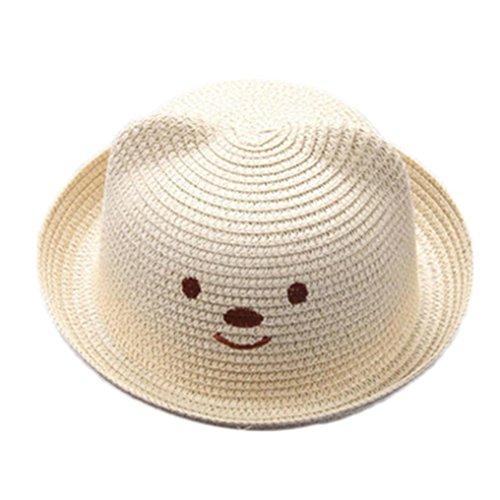 ... Bebé Niño Niña Sombrero de Paja Playa Sombrero de Osoito Gorro de Sol  de Ocio al Deporte Aire Libre Verano para Unisex Niños 2-6 a ntil 50% de  descuento ... 08430d3ee83
