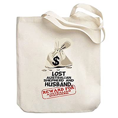 d667001b79 free shipping Teeburon Reward lost Australian Shepherd Canvas Tote ...